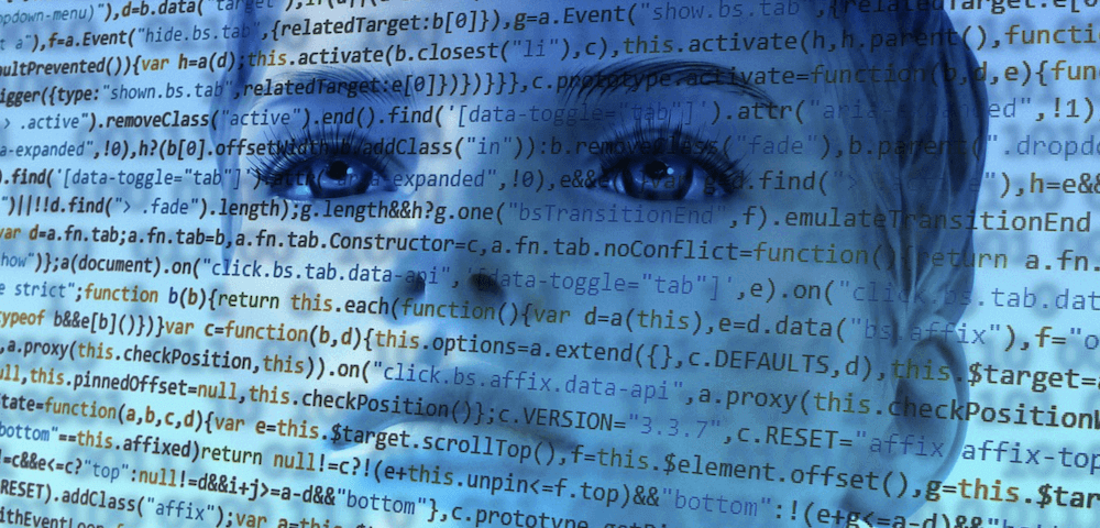 Face with code