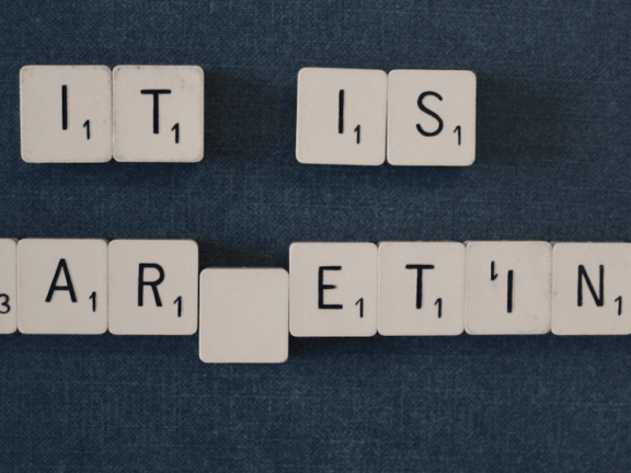 Letters with 'It Is Marketing