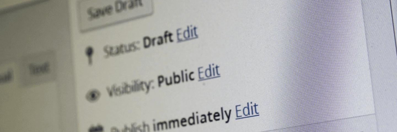 WordPress - blog publishing
