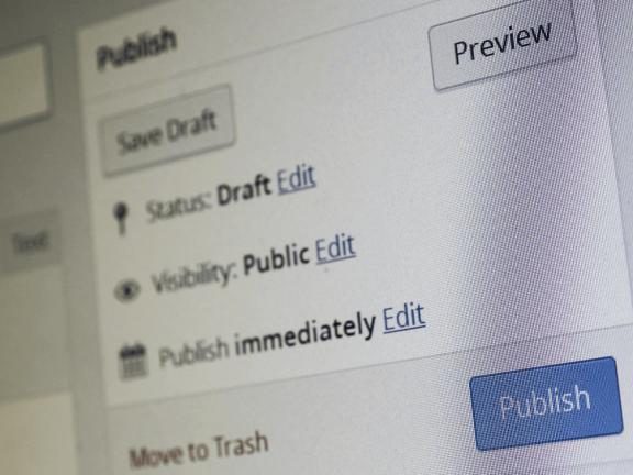 WordPress - blog publiceren