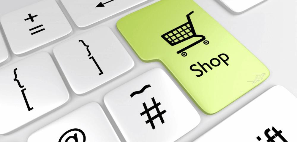 Ecommerce Trends: Big Key Keyboard Where 'Shop' on state