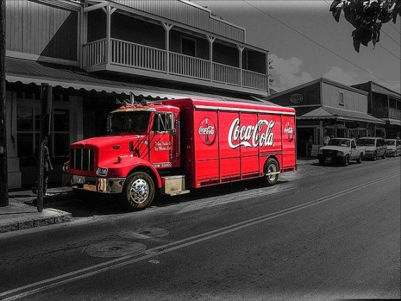 vrachtwagen - coca-cola