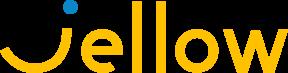 Jellow-logo-geel-met-blauwe-stip