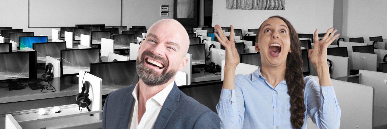 personeel op kantoor gelukkig maken