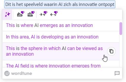 AI writing tool Wordtune